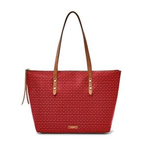 FOSSIL Cabernet Red JAYDA Tote Bag
